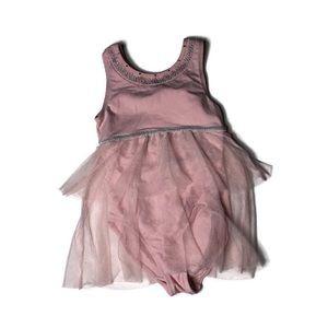 4/$20 Danskin pink sheer skirt leotard